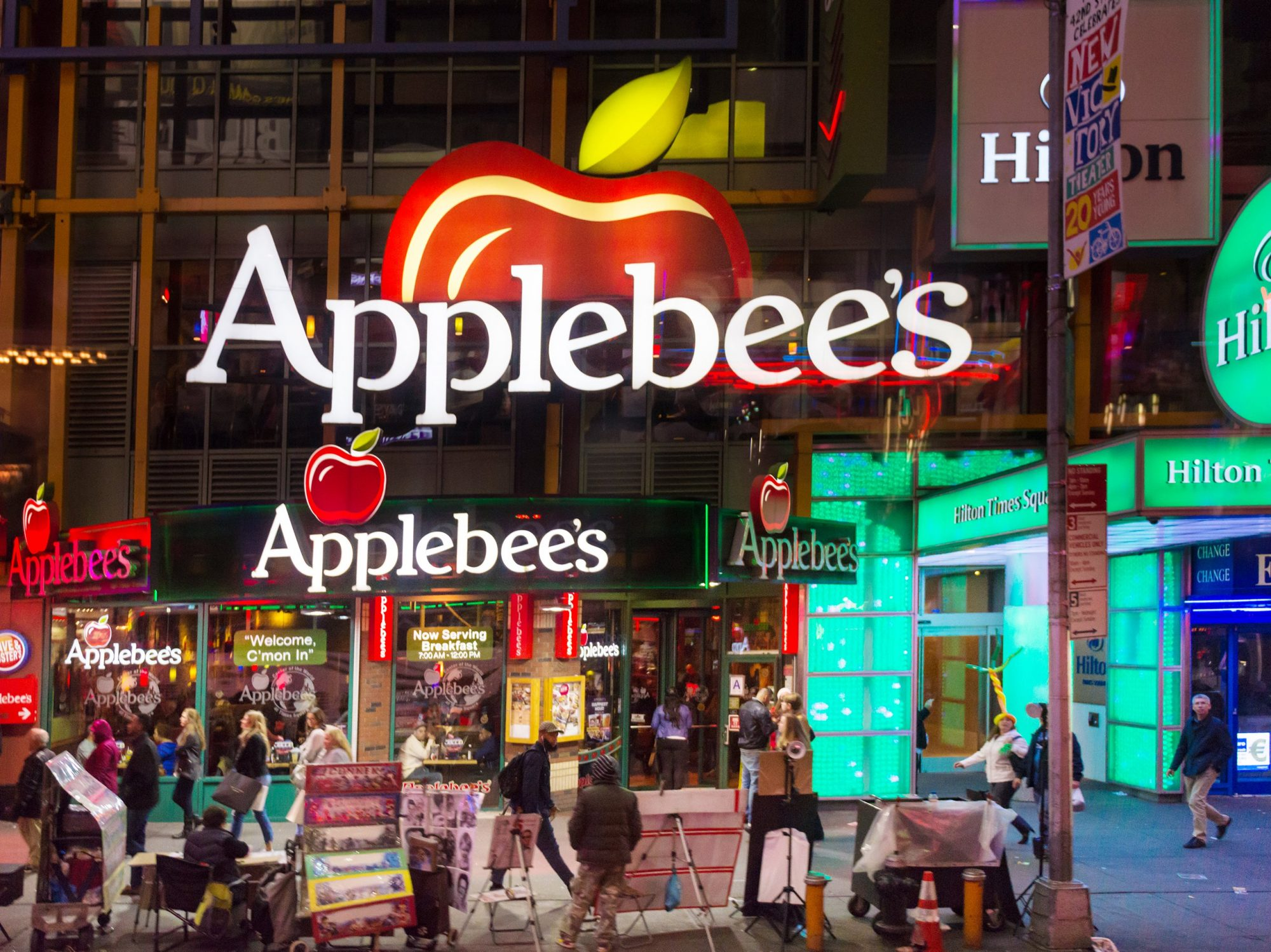 Applebee's restaurant at Times Square in New York City on Oct. 17, 2015.