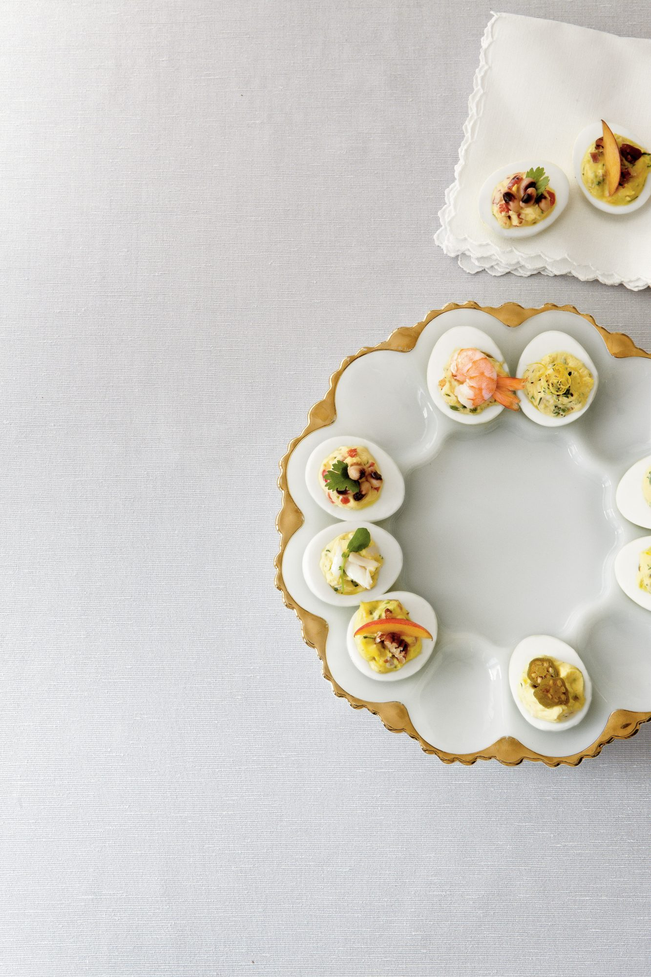 Texas Caviar Deviled Eggs