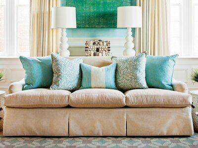 How To Arrange Sofa Pillows Southern Living