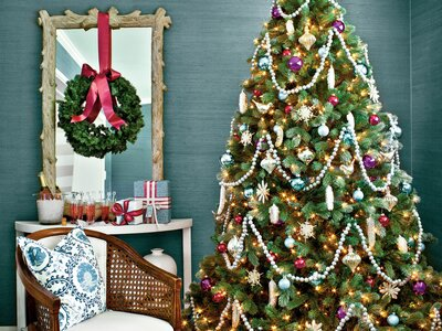 Decorating With Vintage Christmas Ornaments Southern Living