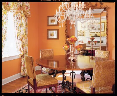 Revive With Color Beside The Yellow Living Room Is Tangerine Dining