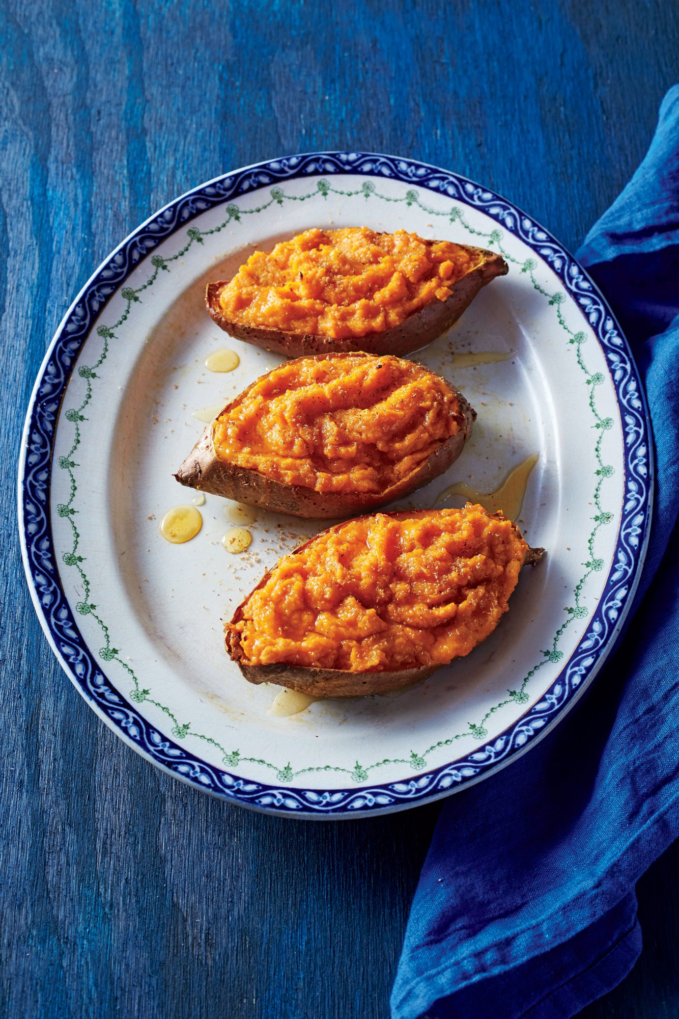 Twice-Cooked Sweet Potatoes with Citrus and Honey