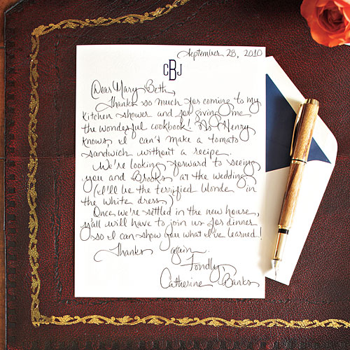 Write a Charming Thank-You Note
