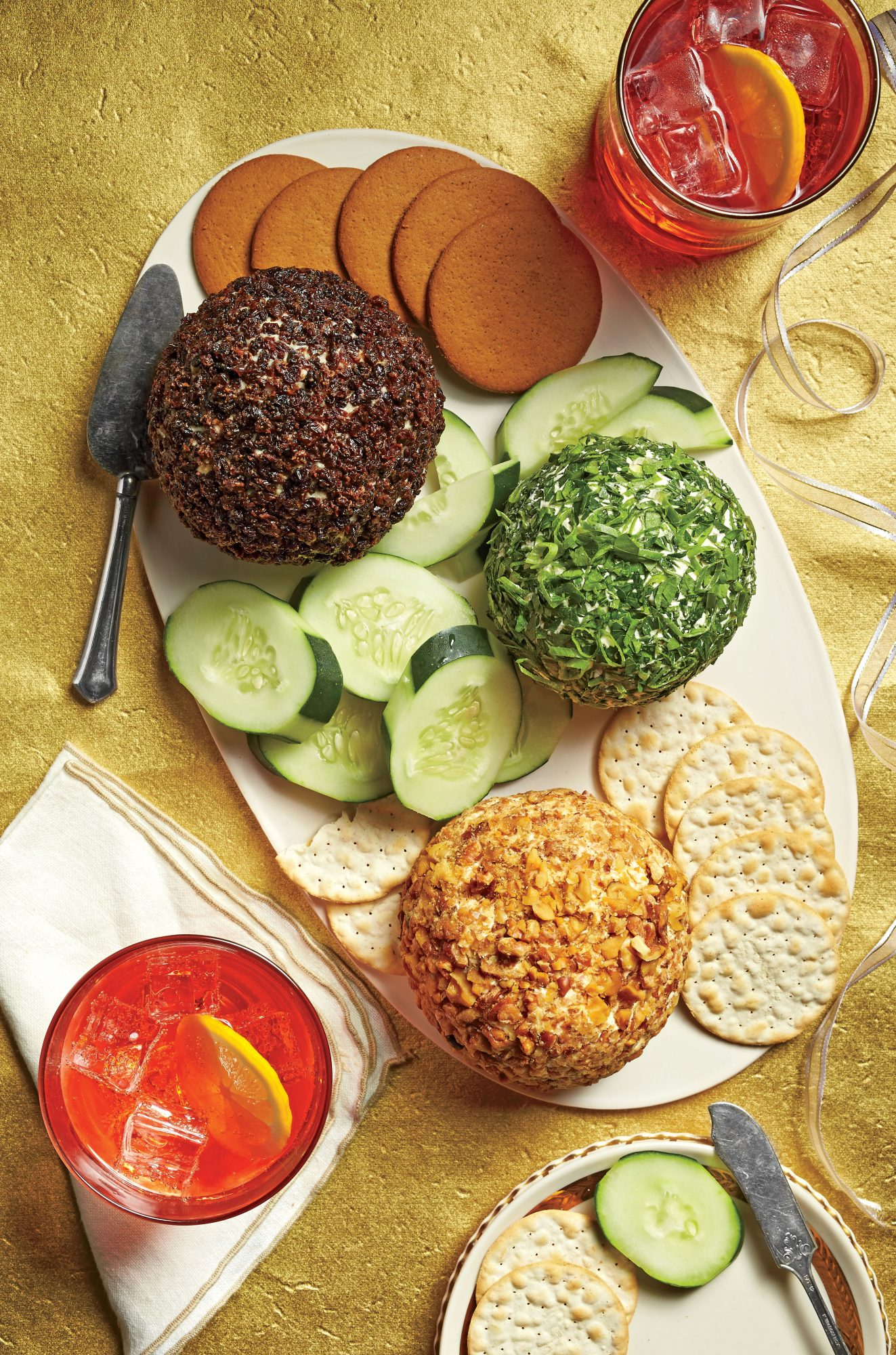 Cheddar-Horseradish-Walnut Cheese Ball