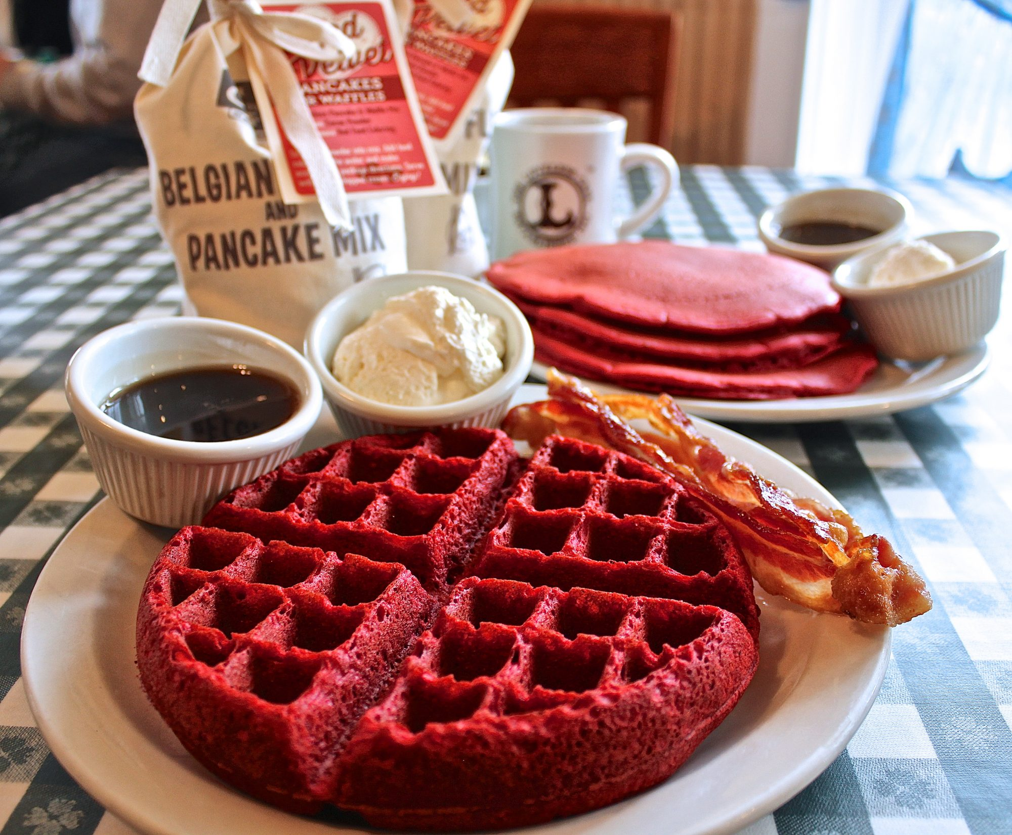 Loveless Café Red Velvet Waffles Image