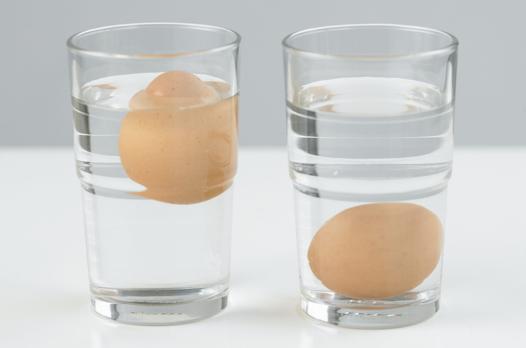 Eggs Floating in Water