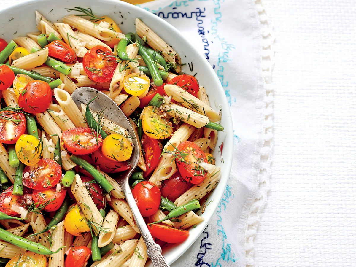 Penne with Green Beans and Tomatoes