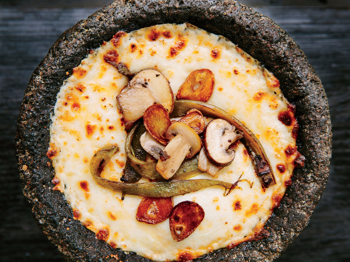 Queso Fundido with Mushrooms and Chiles