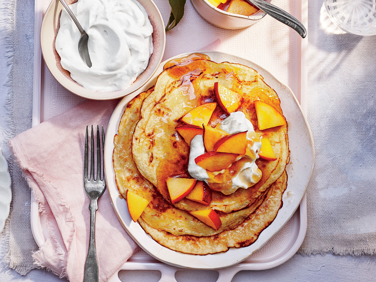 Peaches-and-Cream Pancakes