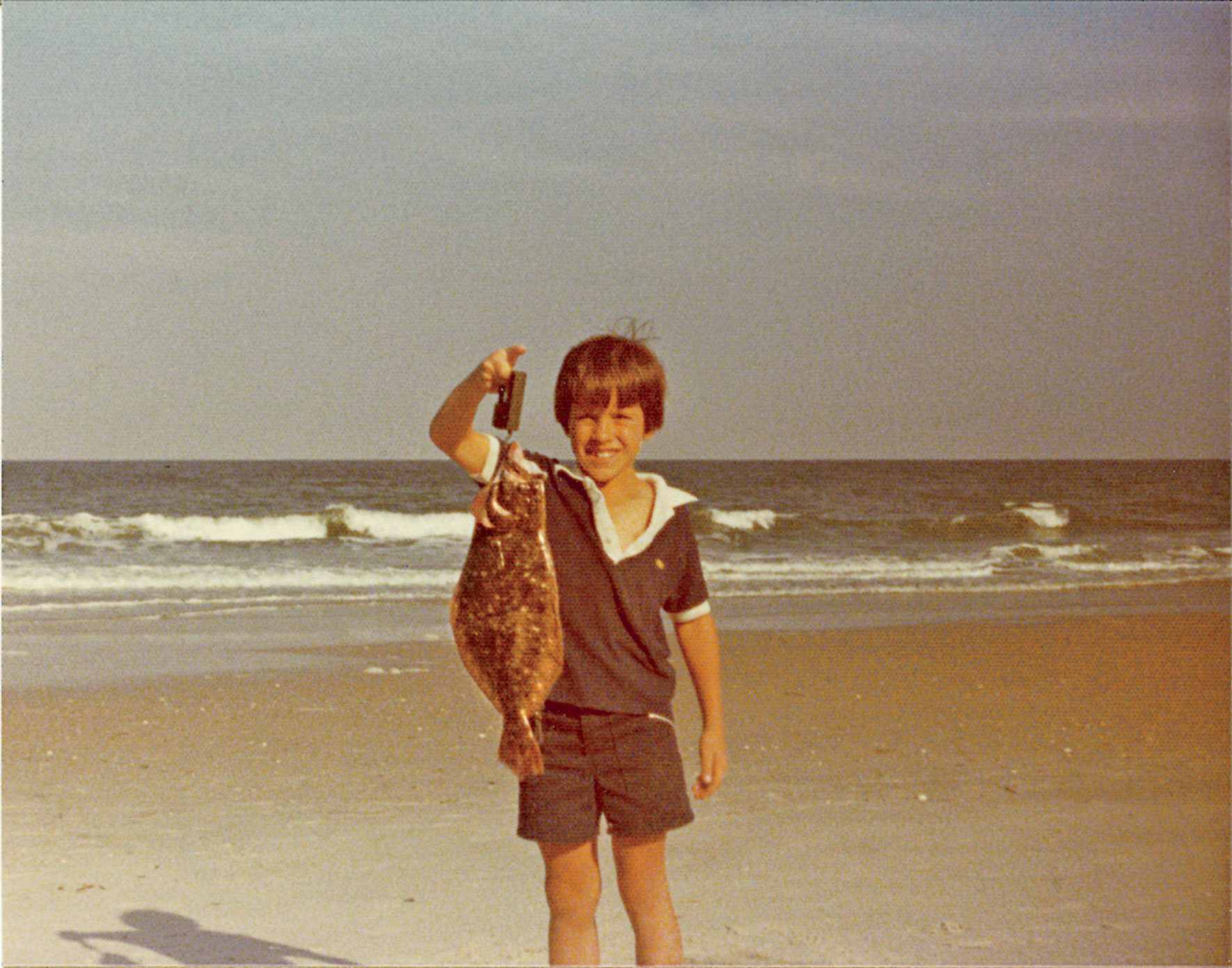 Sid Evans with Flounder on Pawleys Island