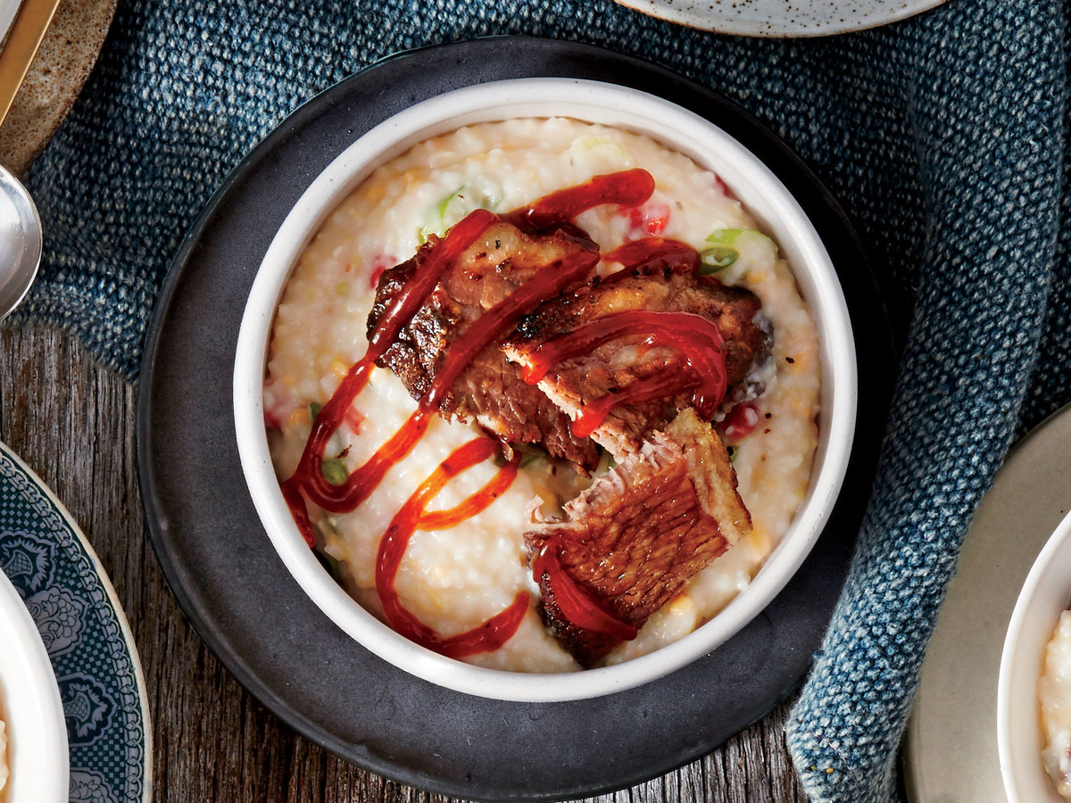 Pimiento Cheese and Brisket Grits Recipe