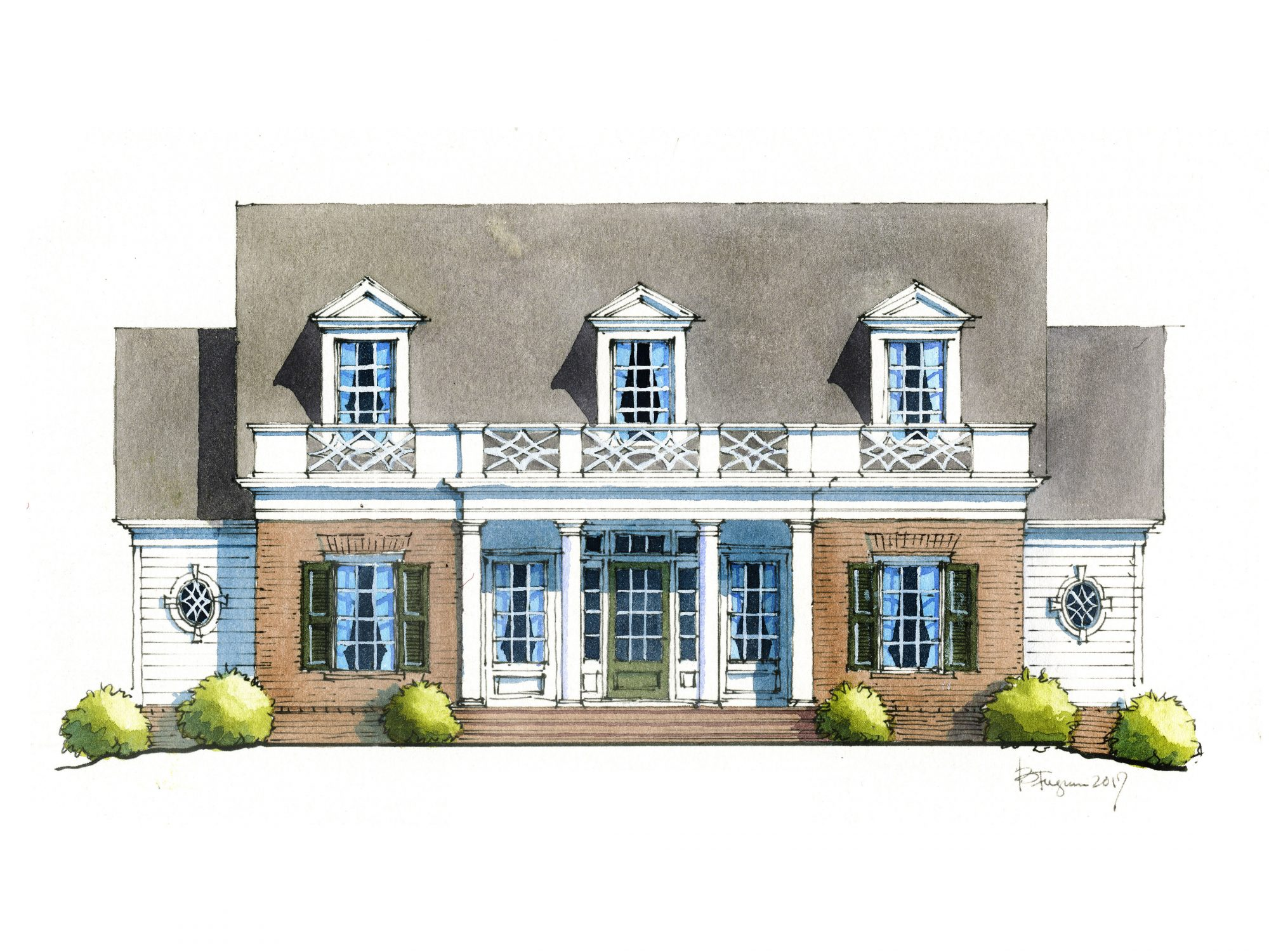 Southern Living cottage rendering