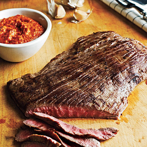 Flank Steak Romesco Sauce