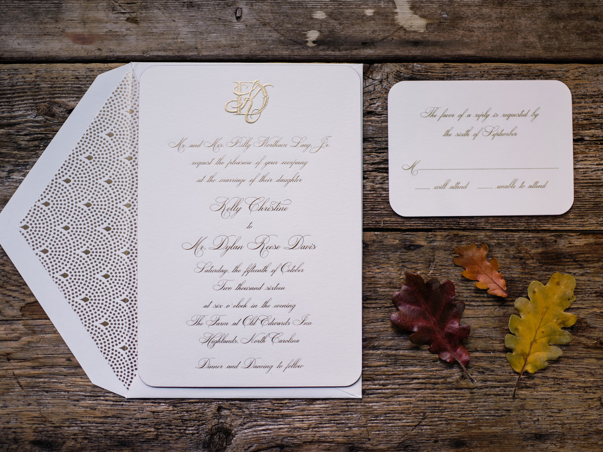 Timeless Gold Invitations