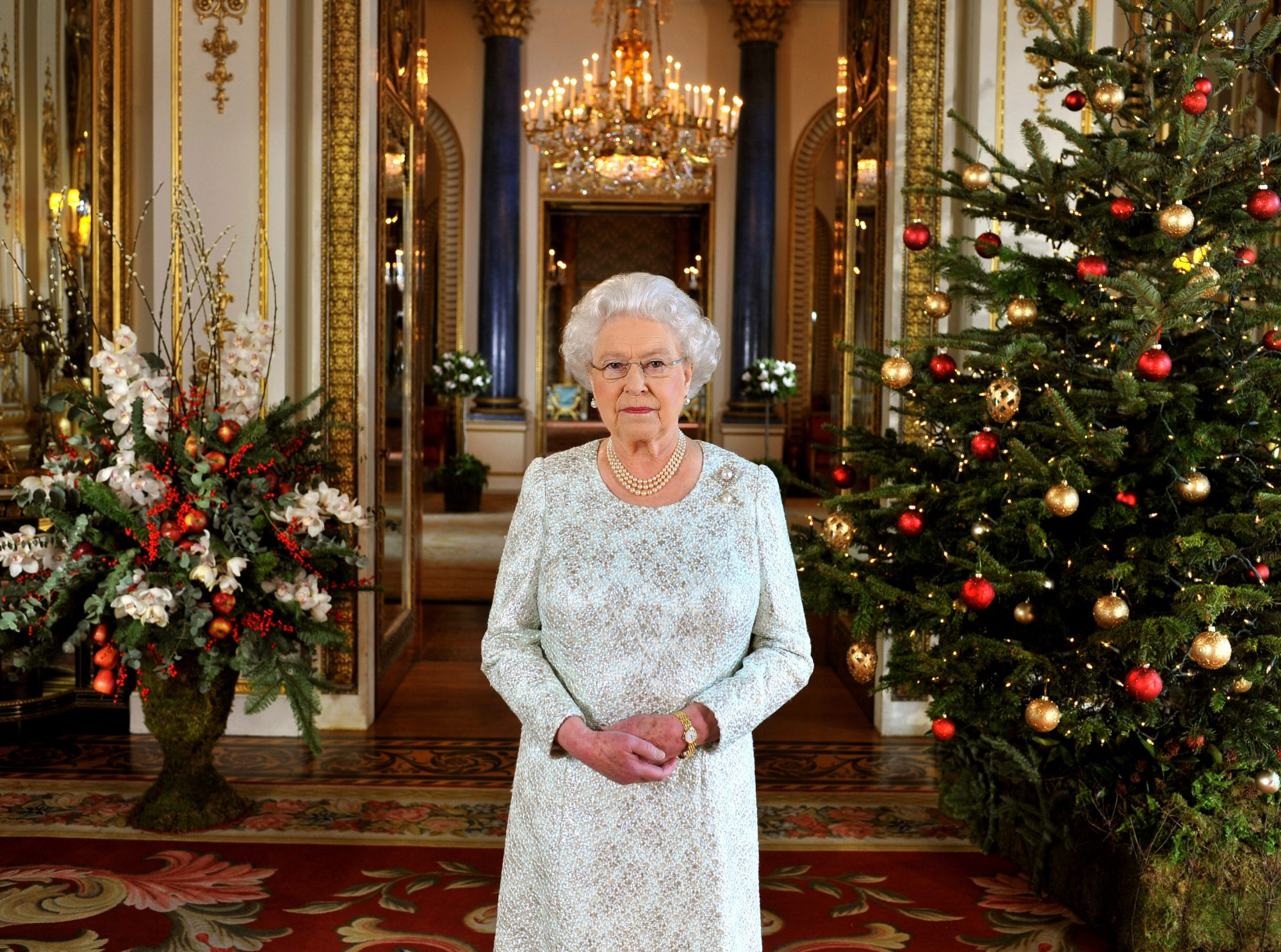 Queen Elizabeth II 2012 Christmas Broadcast at Buckingham Palace