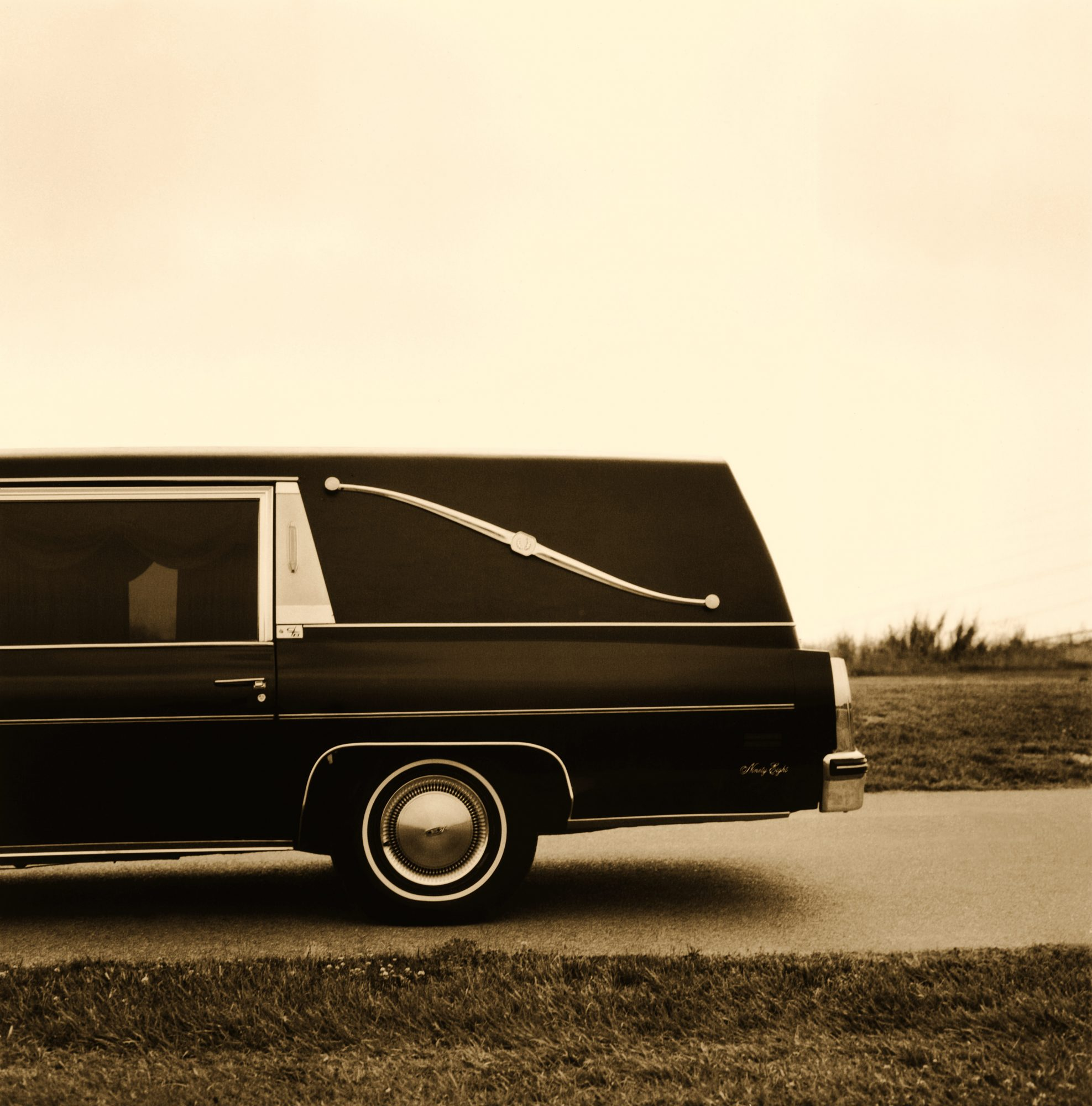 Hearse on Road