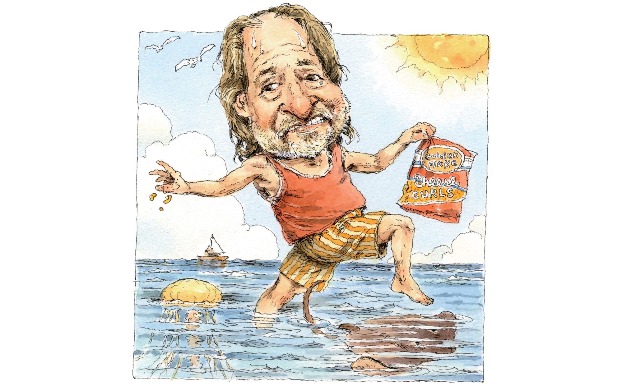 Rick Bragg at the Beach