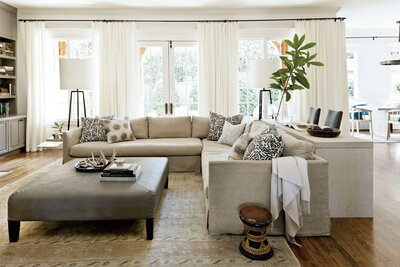 We Love This Gray Paint Color For Living Rooms Southern
