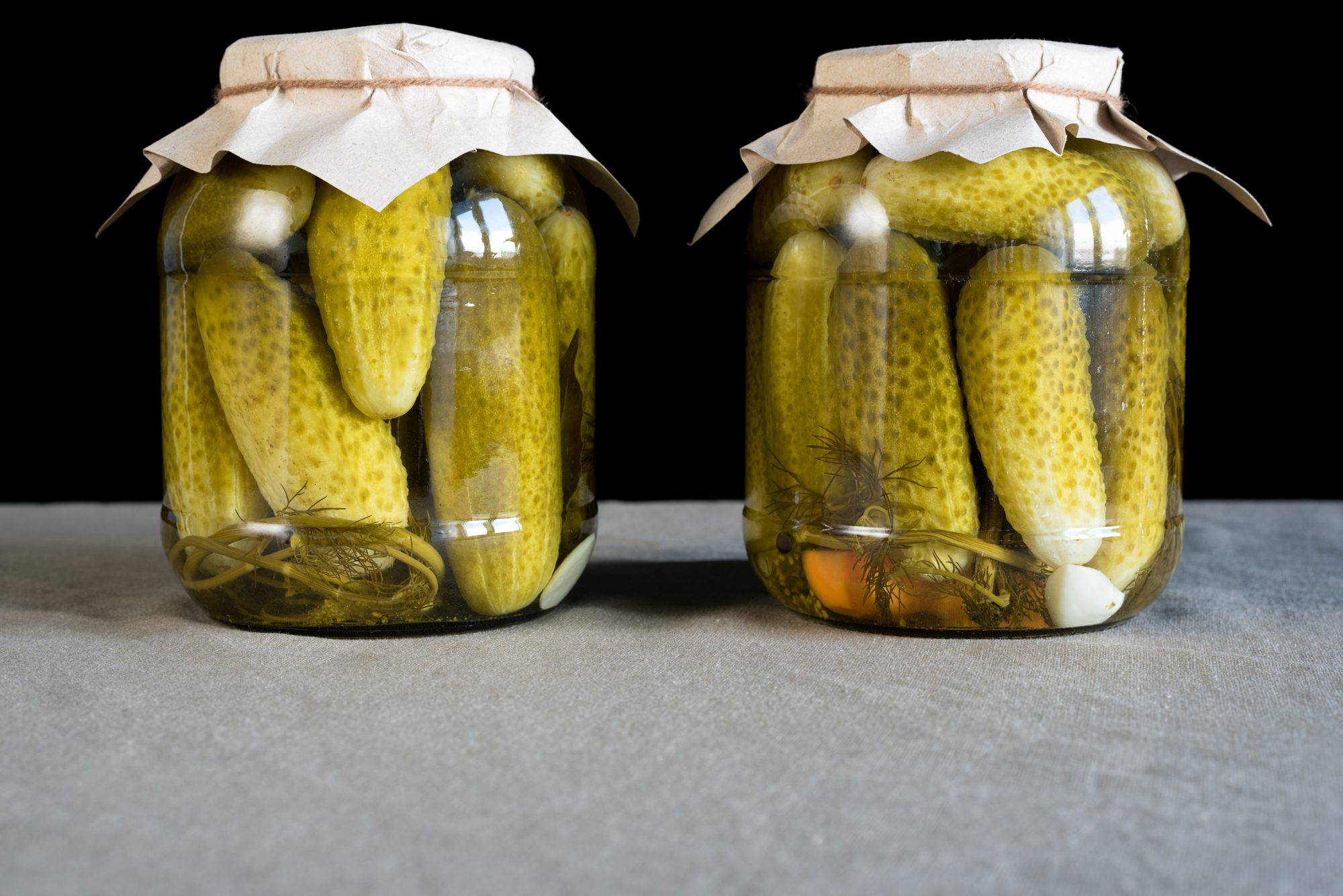 Homemade Pickles in Jar