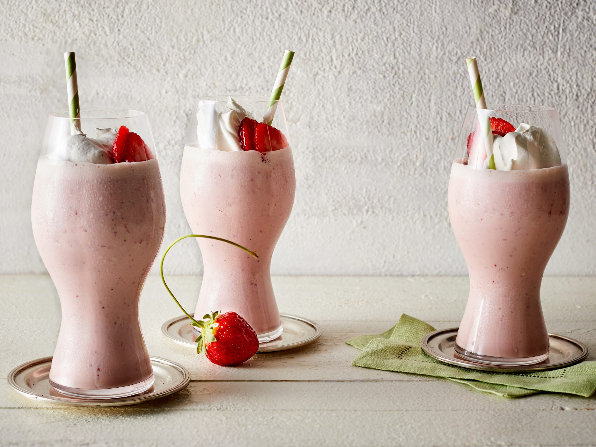 Fresh Strawberry Milkshake