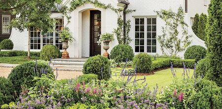 Birmingham Al Front Yard Garden With A White House Landscaping Ideas
