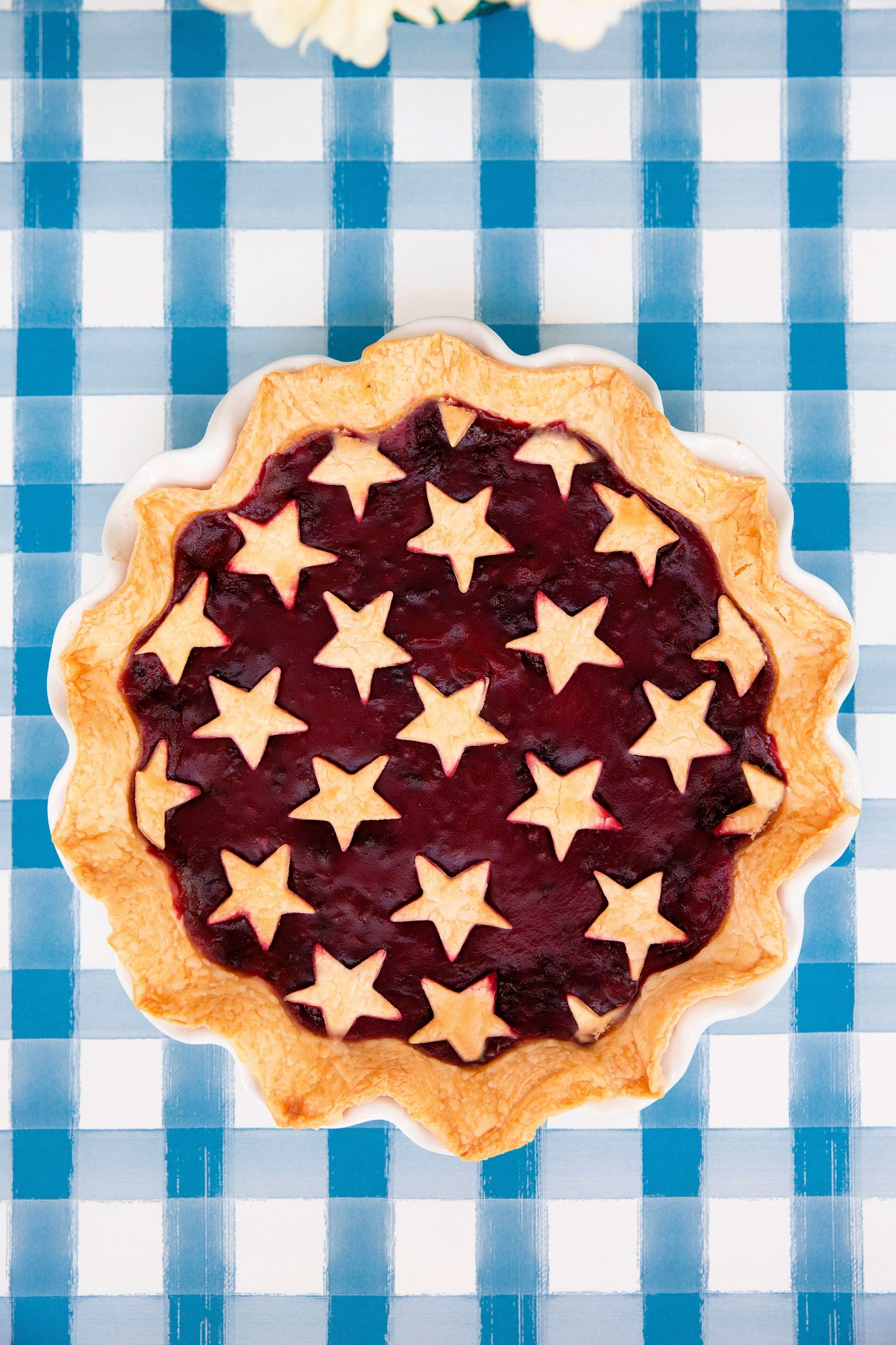 Star Spangled Blackberry Pie