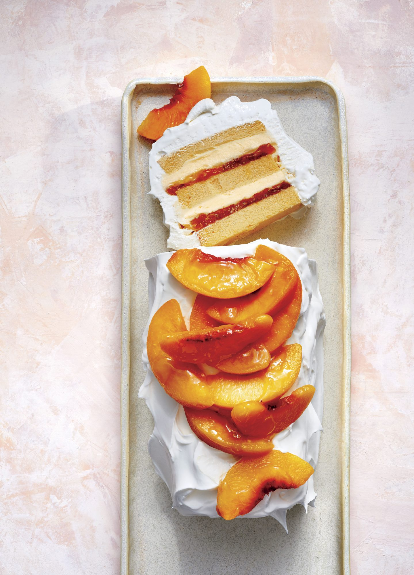 Creamy Peach Icebox Cake