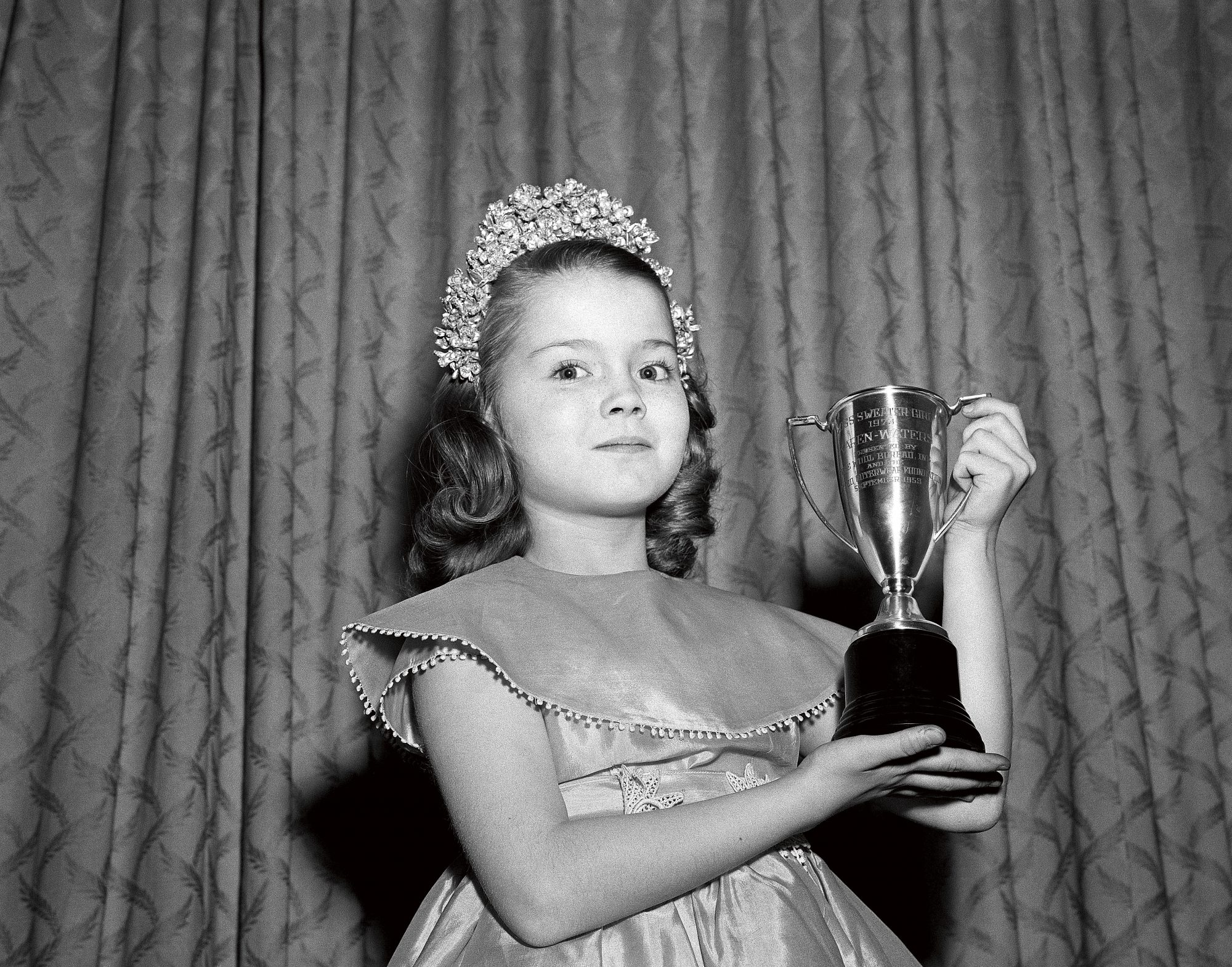 Little Girl Winning Beauty Pageant