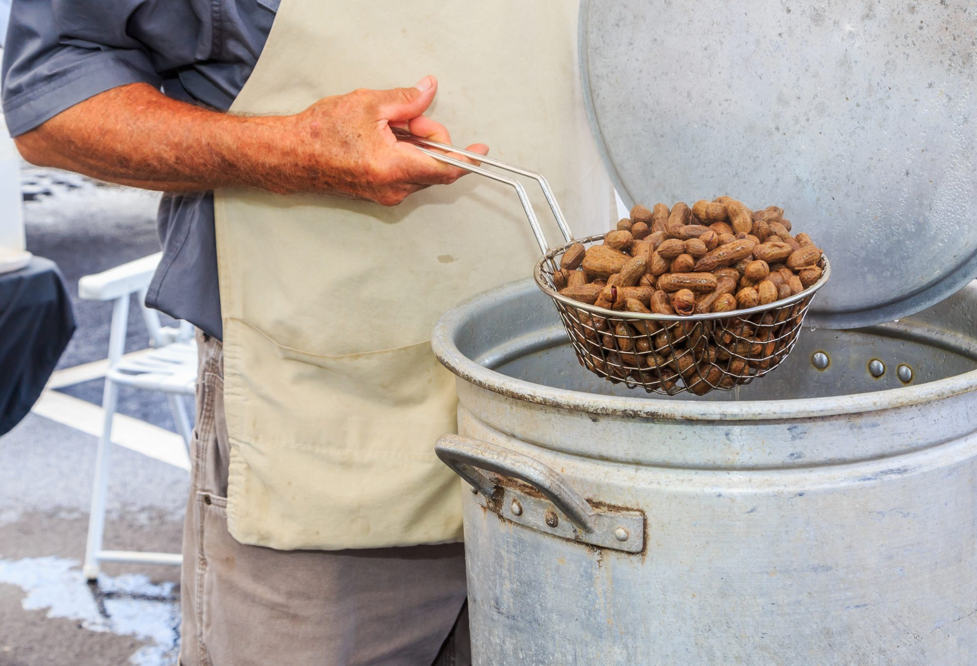 Fresh Boiled Peanuts at Farmers' Market