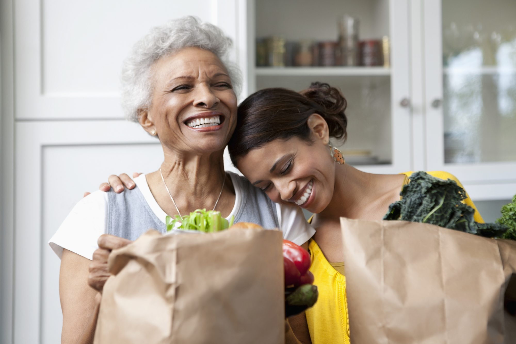 Mother Daughter Healthy Grocery Bag
