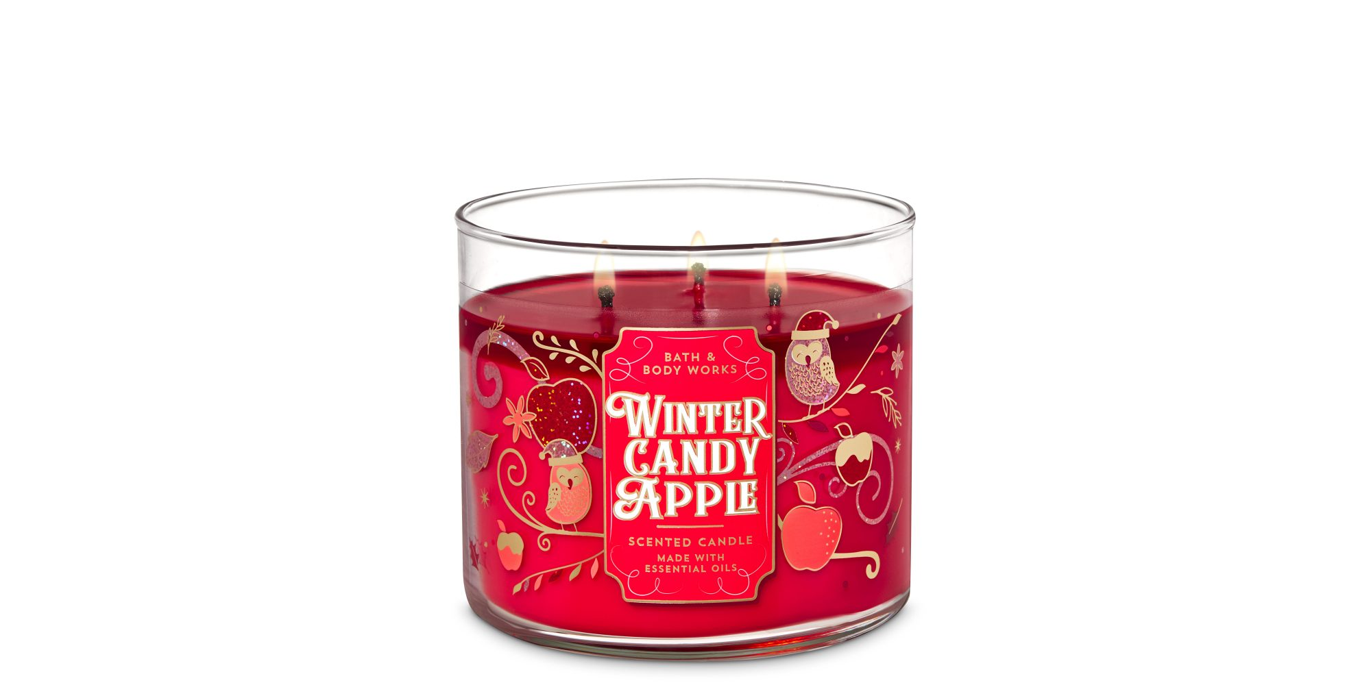 Bath & Body Works Winter Candy Apple 3-Wick Candle