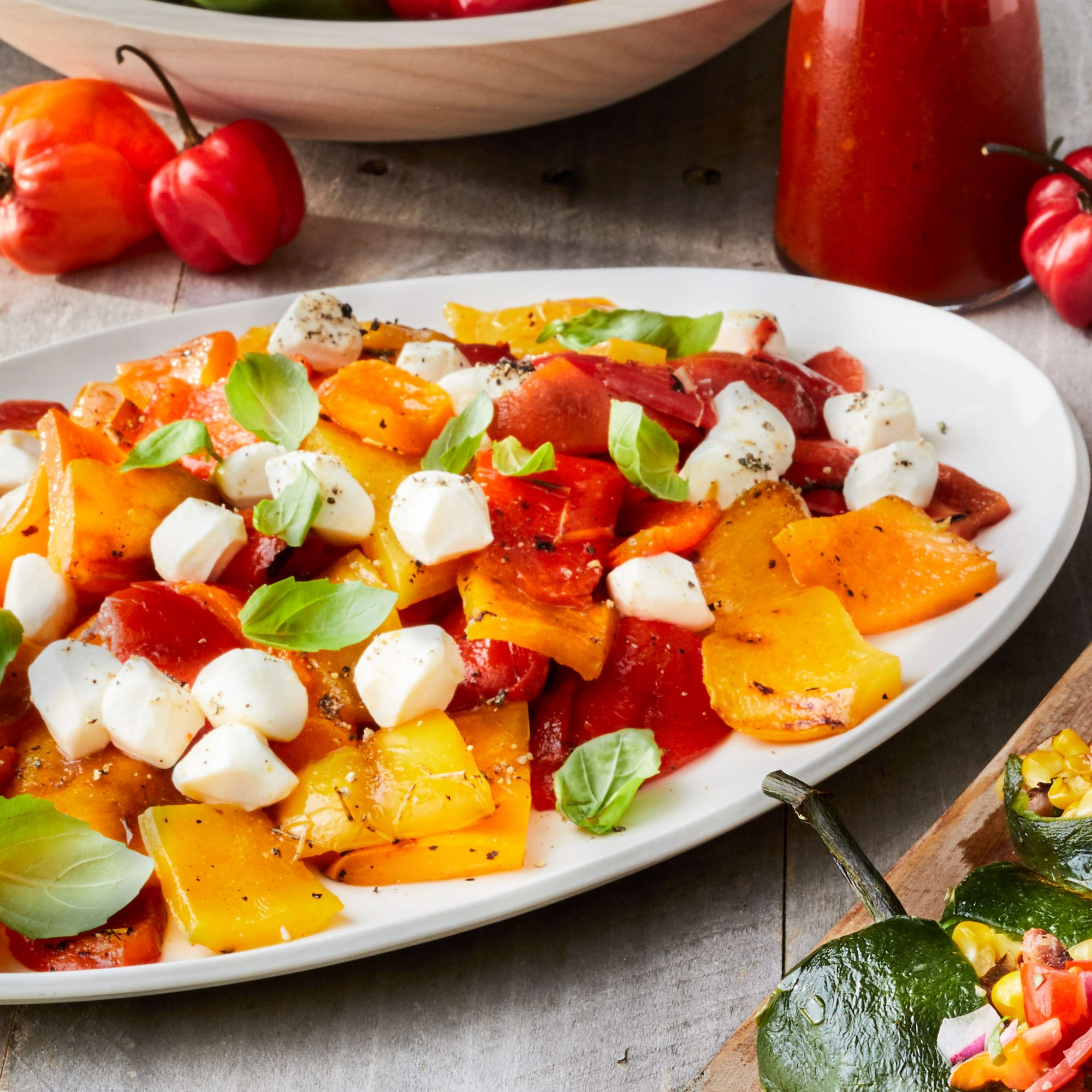 Grilled Bell Pepper Caprese