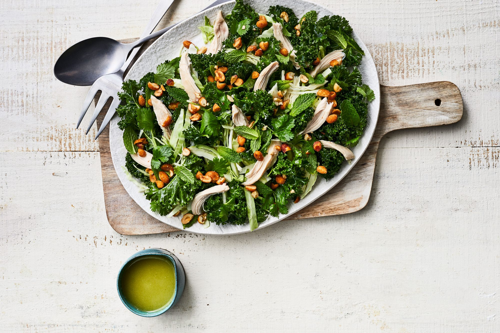 Kale-and-Chicken Salad with Jalapeño-Lime Dressing