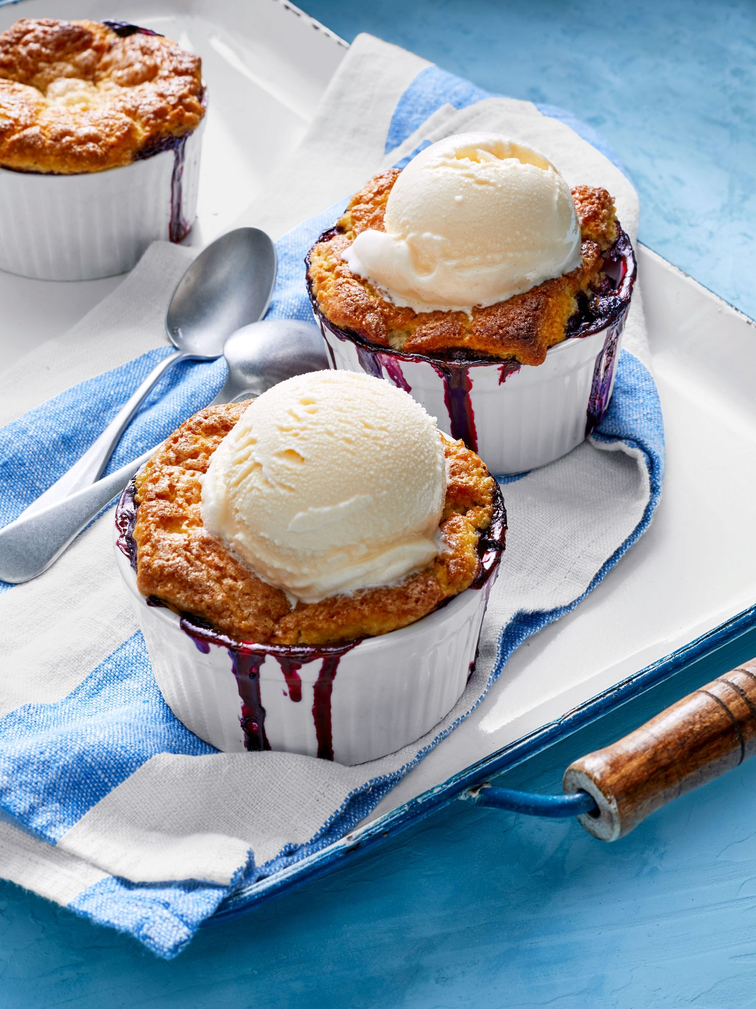 Blueberry-Orange-Ginger Cobblers