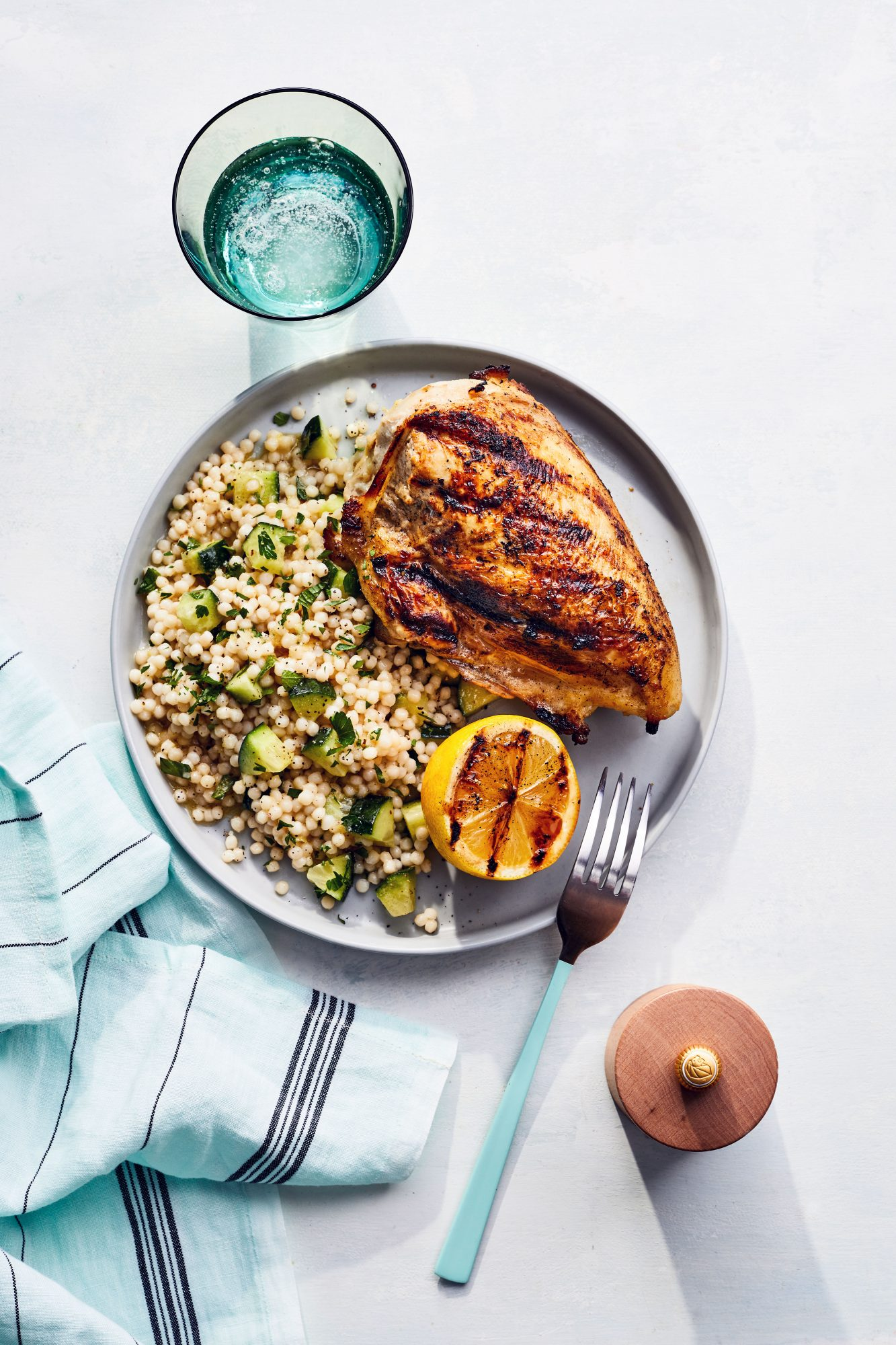 Grilled Lemon Chicken with Herb Couscous