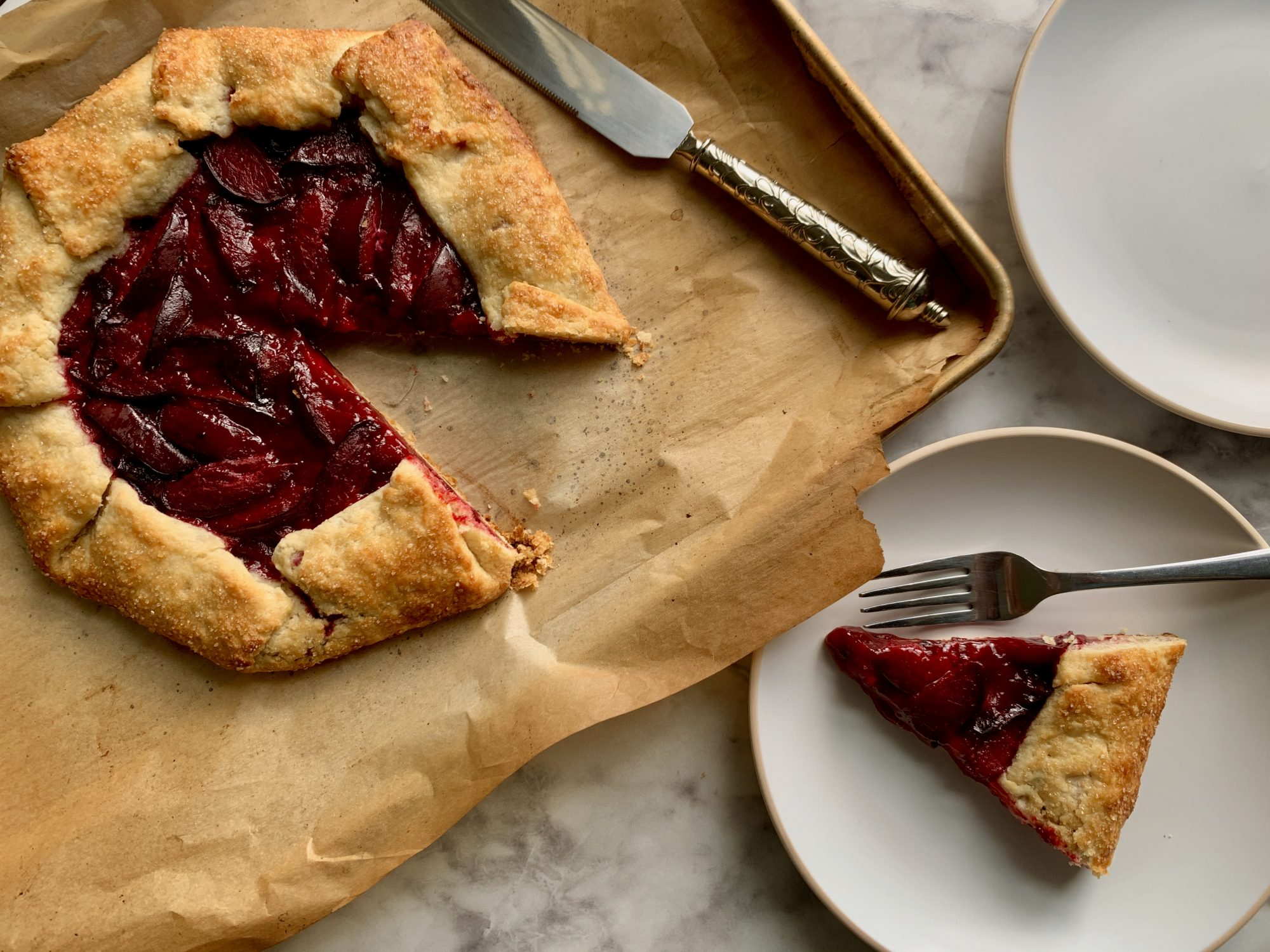 Honeyed Plum Galette