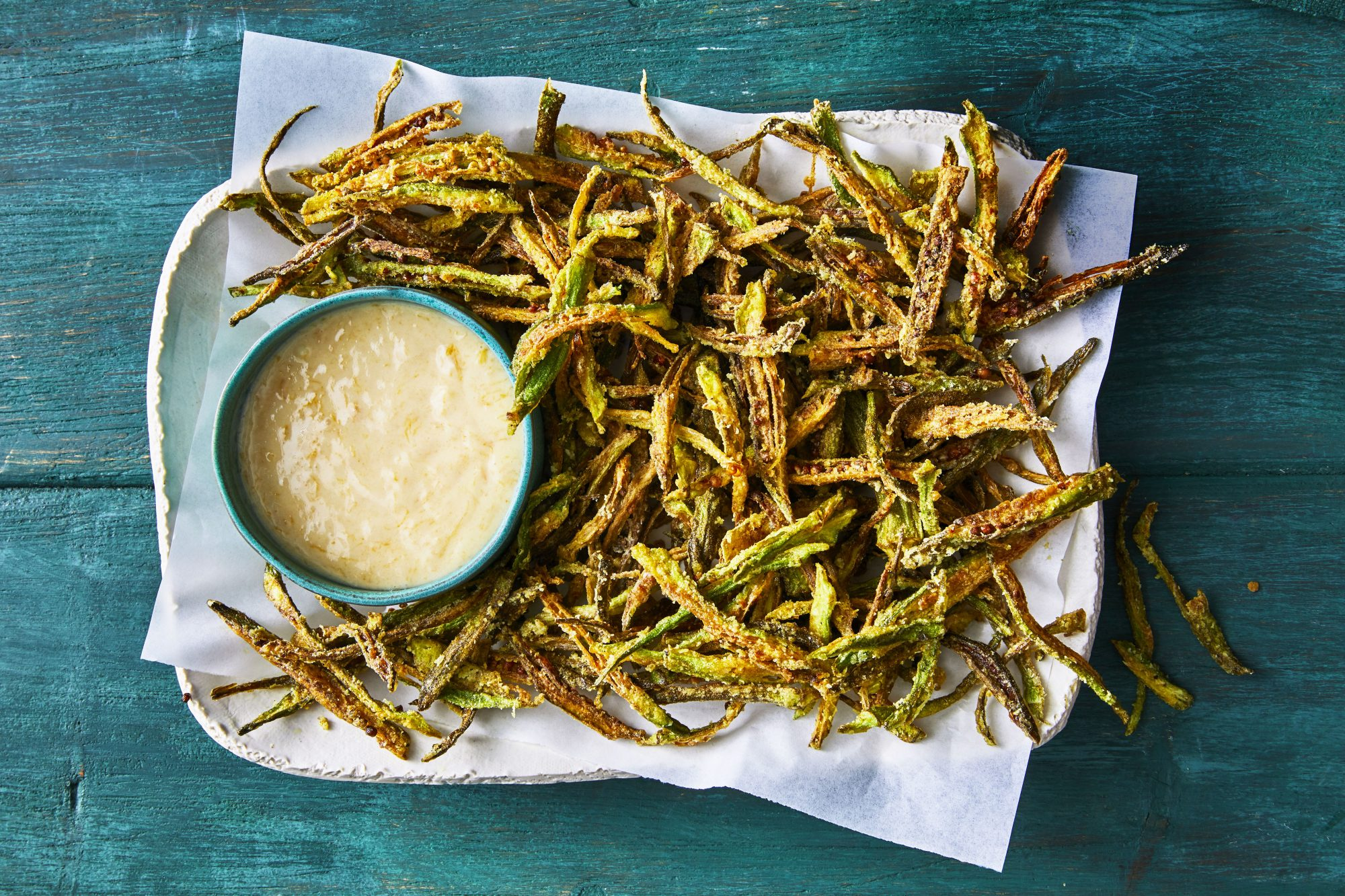 Curried Okra Shoestring Fries