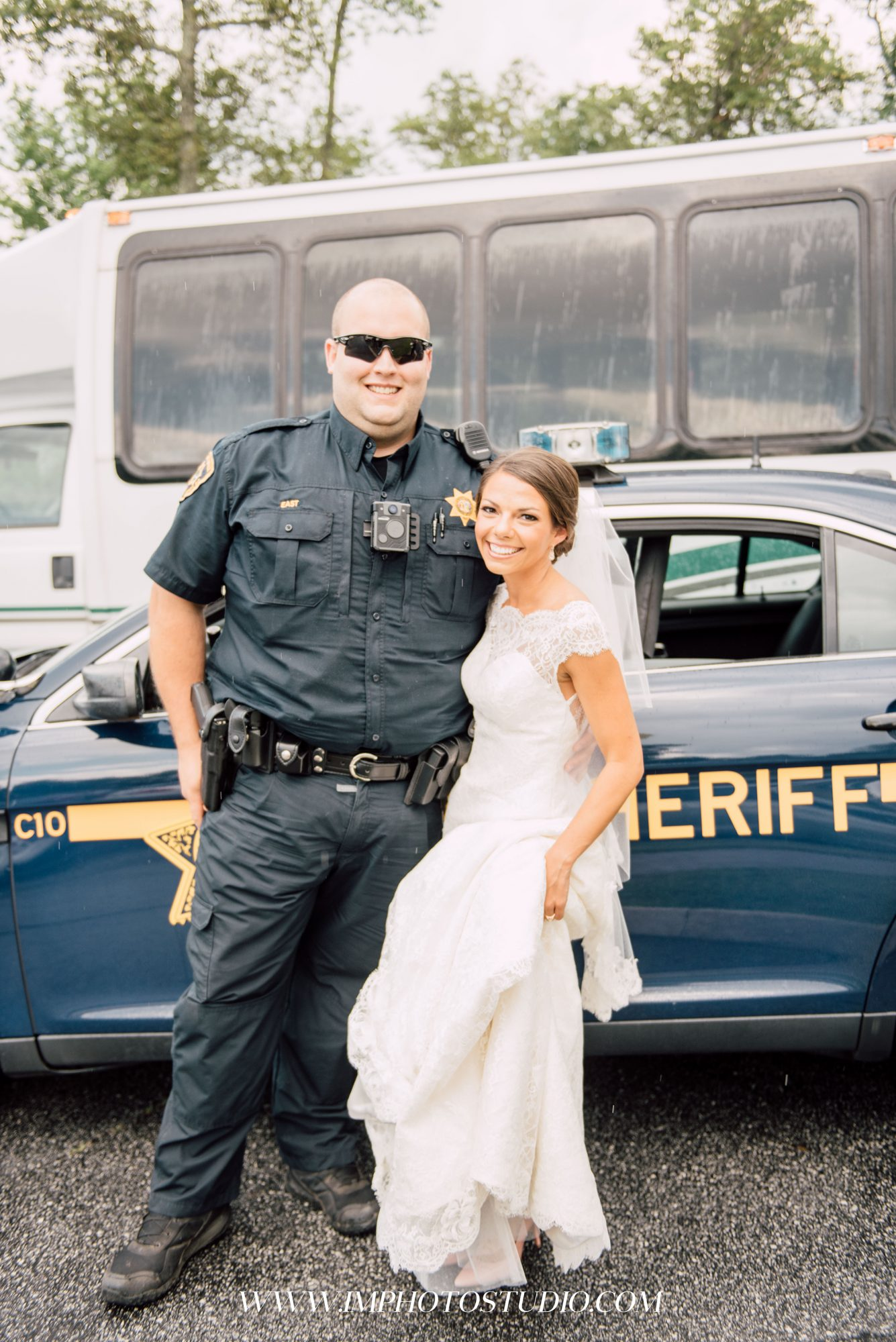 The Amazing Reason This Bride Ended up in the Back of a Police Car on Her Wedding Day