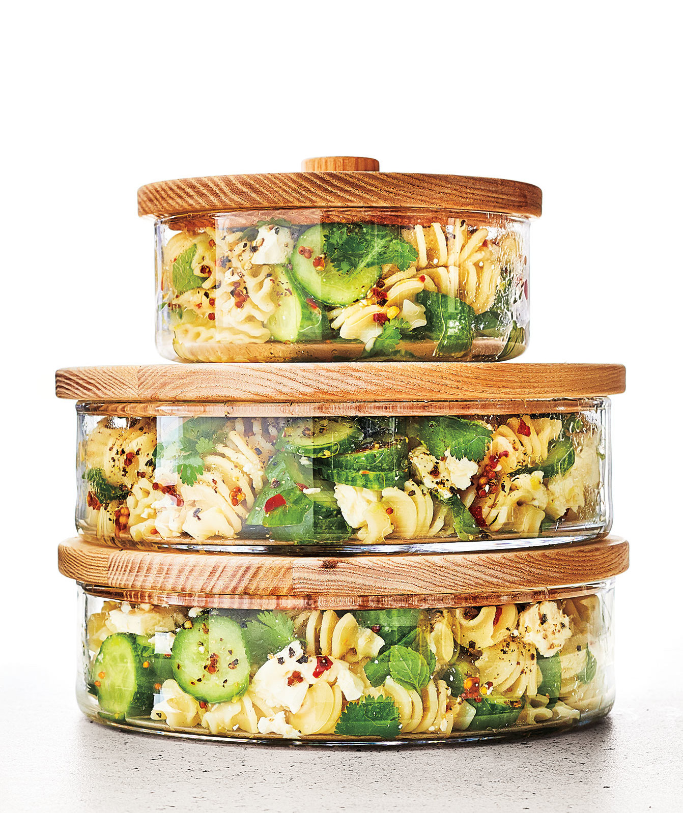 Lemony Cucumber-and-Herb Pasta Salad