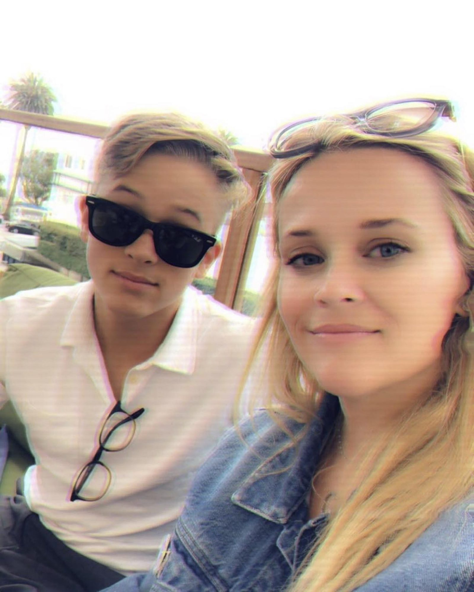 Reese Witherspoon Shares Sweet Selfie with Son Deacon, 14: '#SummerFun'
