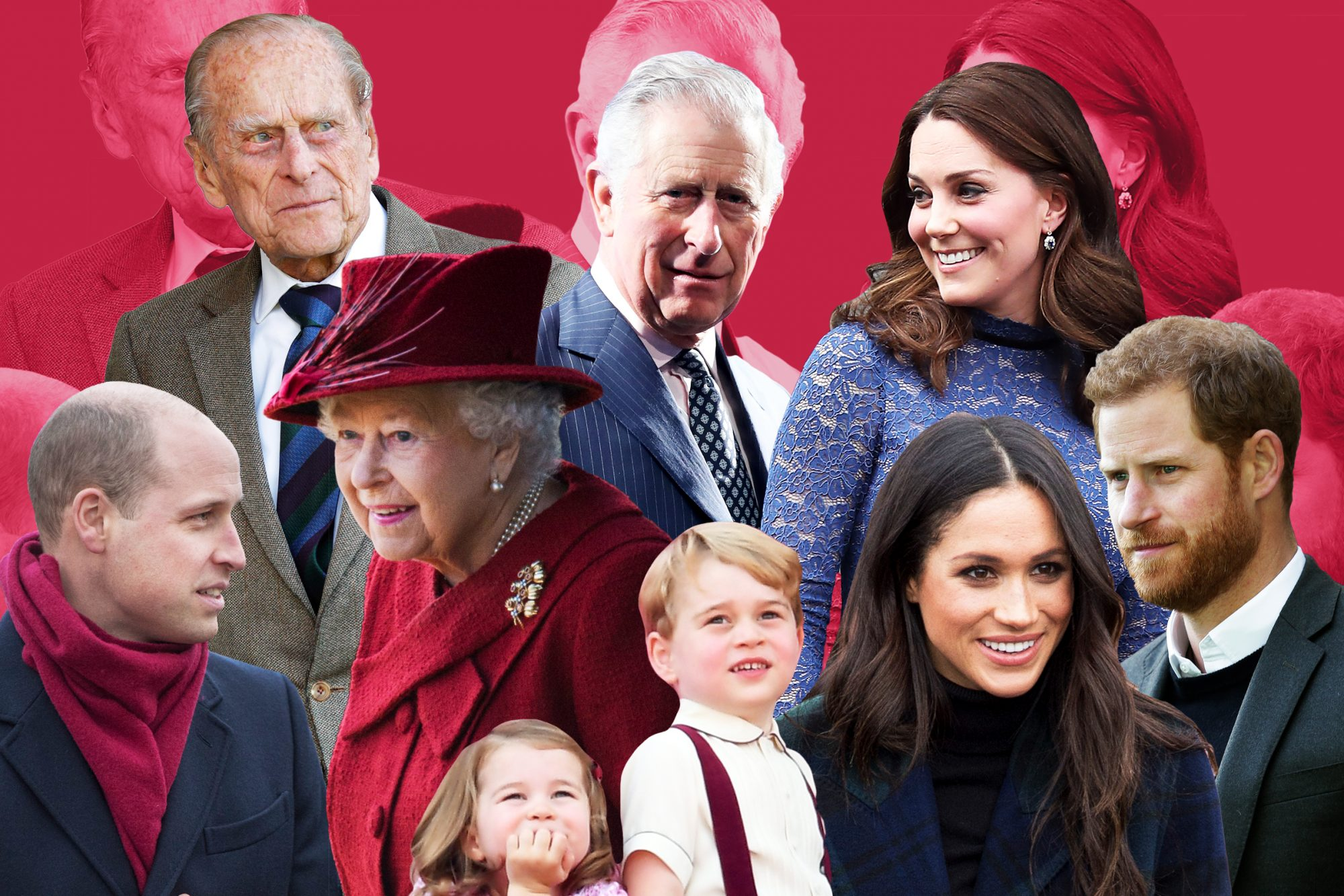 A collage of the Royal Family