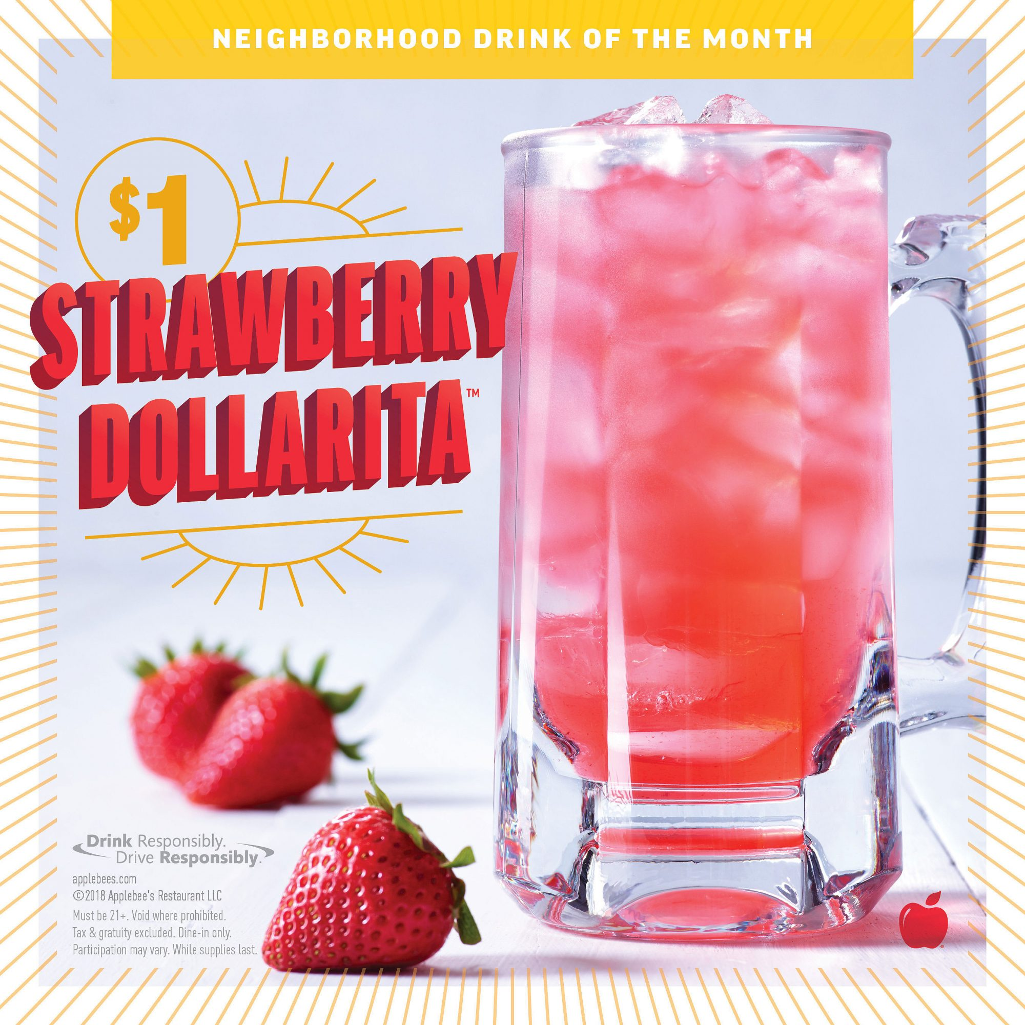 You Can Get $1 Strawberry Margaritas at Applebee's the Entire Month of August
