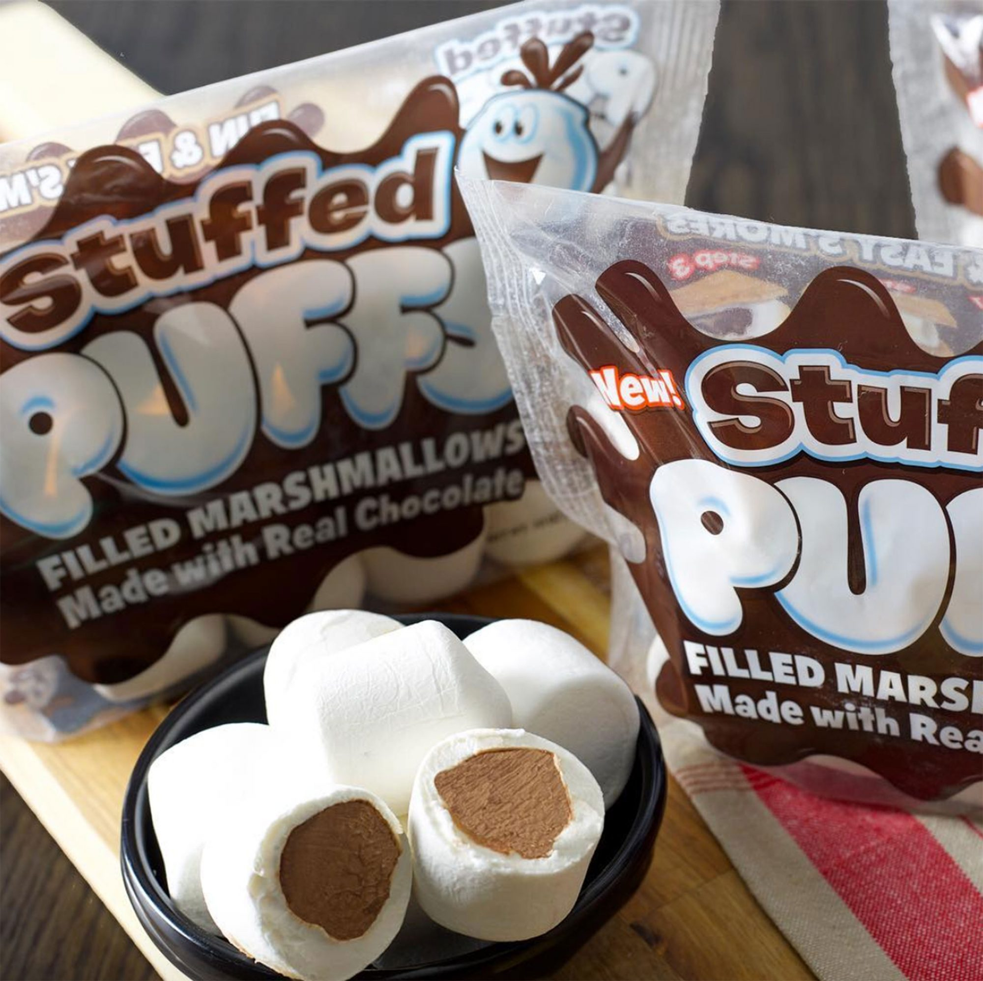 Chocolate-Stuffed Marshmallows Are Almost Here, and S'Mores Will Never Be The Same stuffed-puffs-2