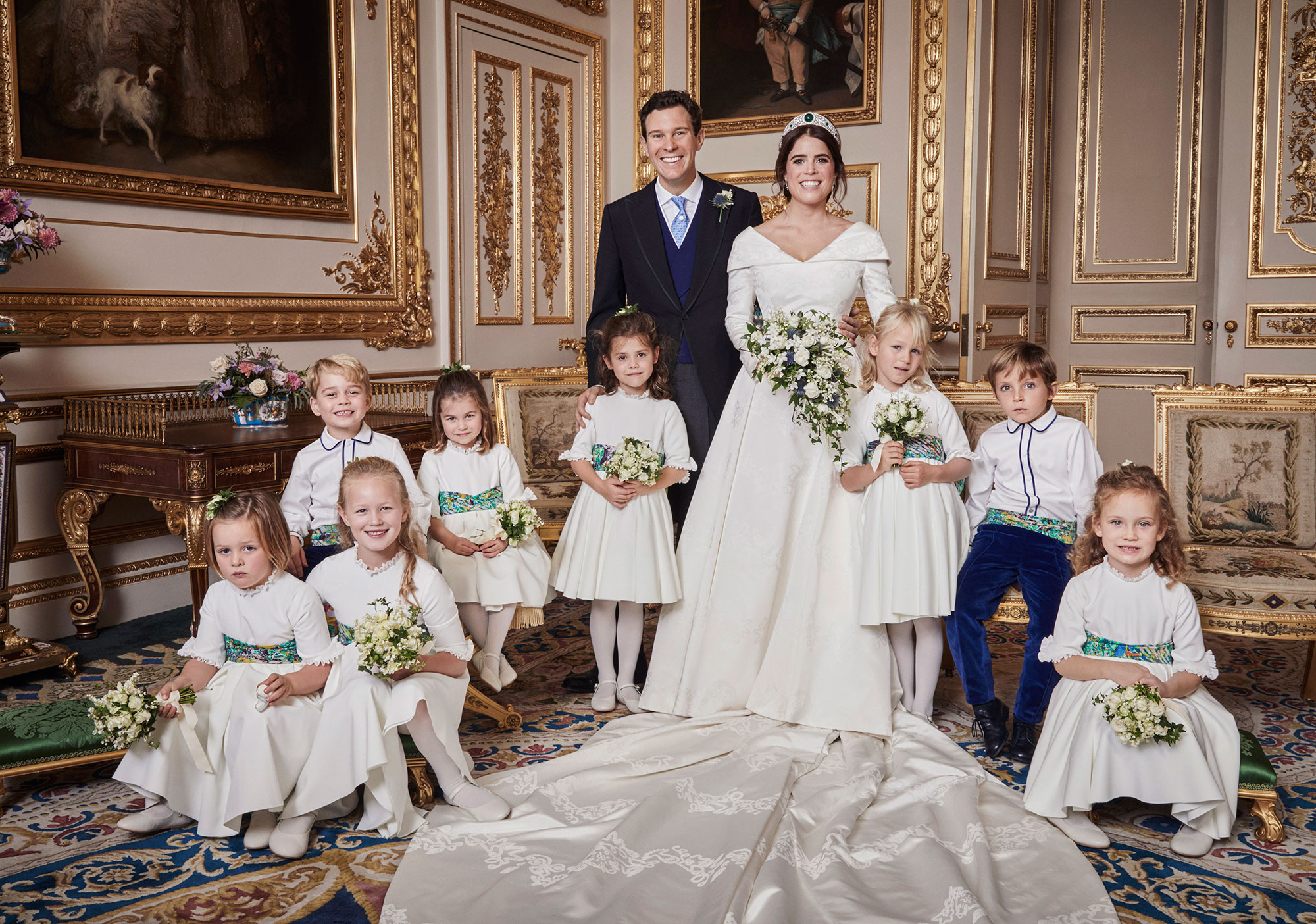 Princess Charlotte Stole One of Mom Kate's Signature Moves in Wedding Portrait with Prince George