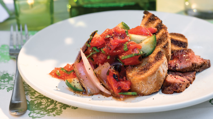 Vegetarian Grilling Recipes: Panzanella Salad