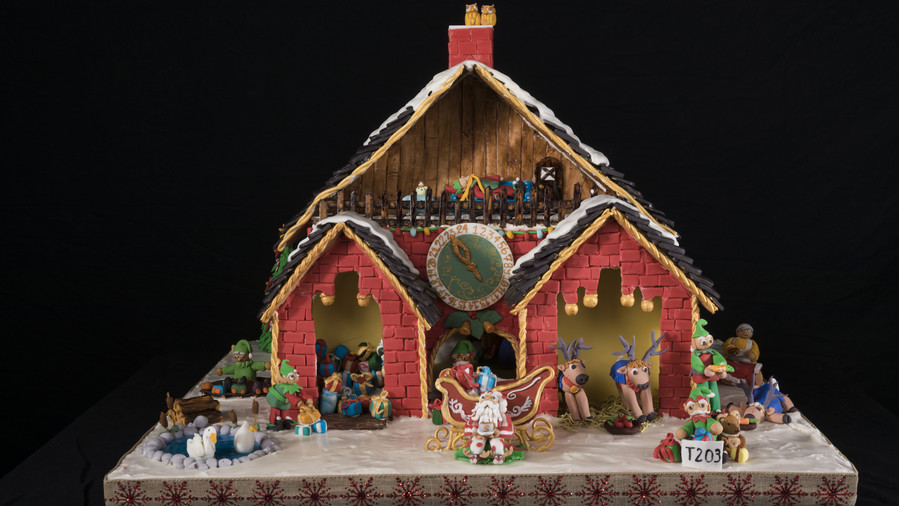 Santa's Workshop Gingerbread House Competition