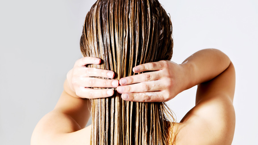 Woman With Wet Combed Hair