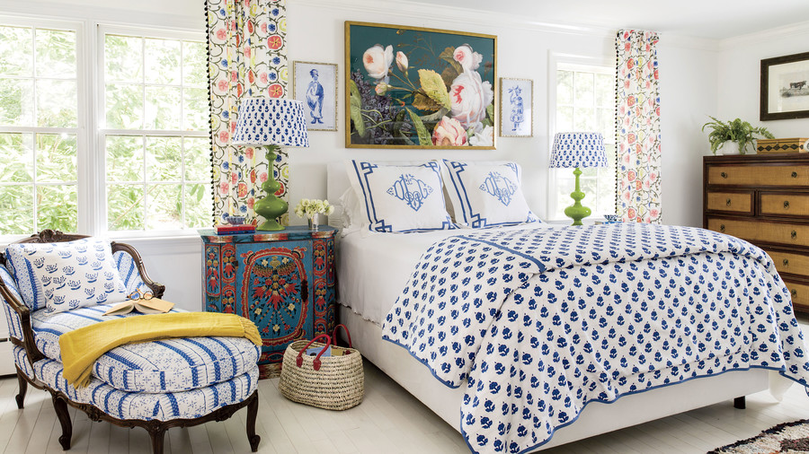 Dana Gibson Colorful Richmond Home Master Bedroom