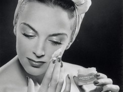 Woman Applying Skincare, 1945-1955