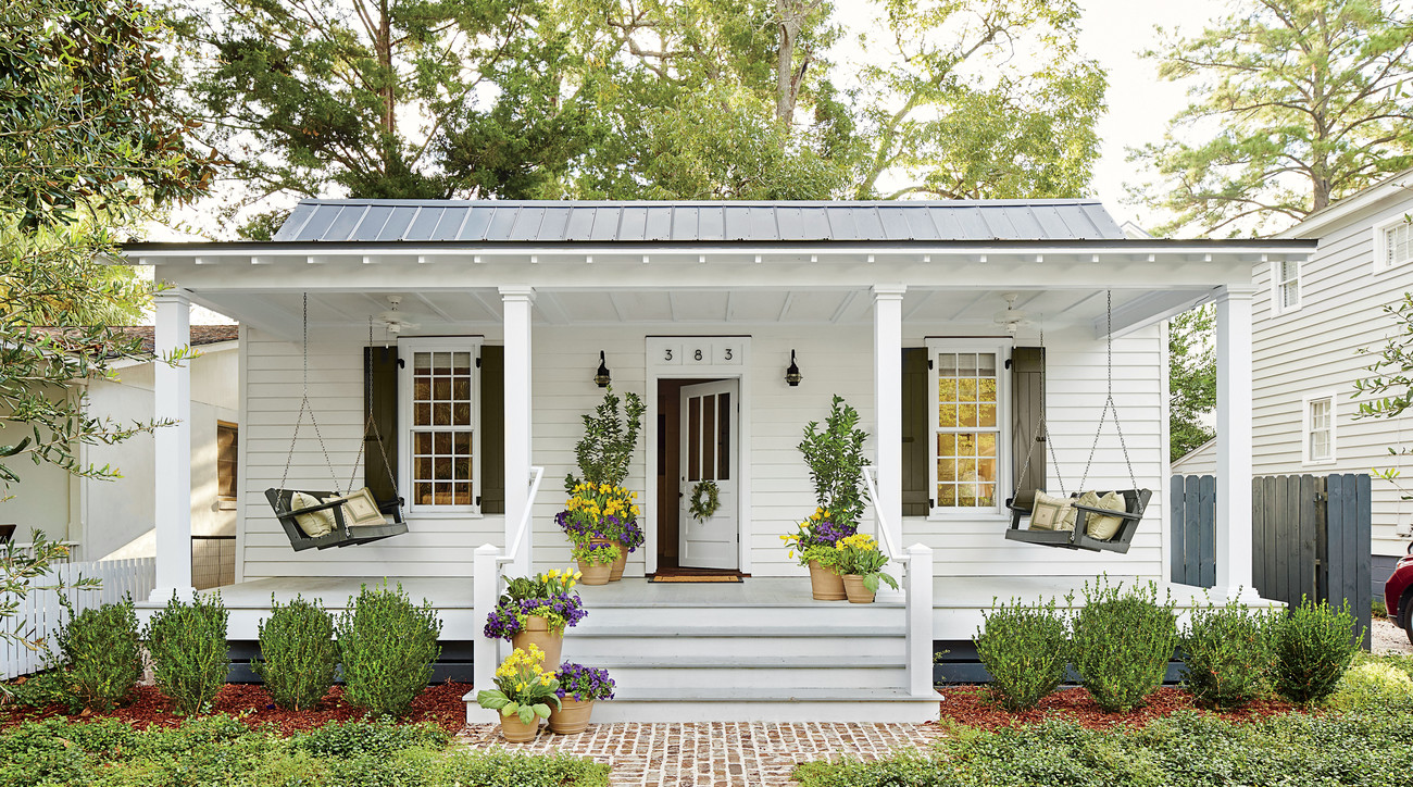Southern White Porch with Swings